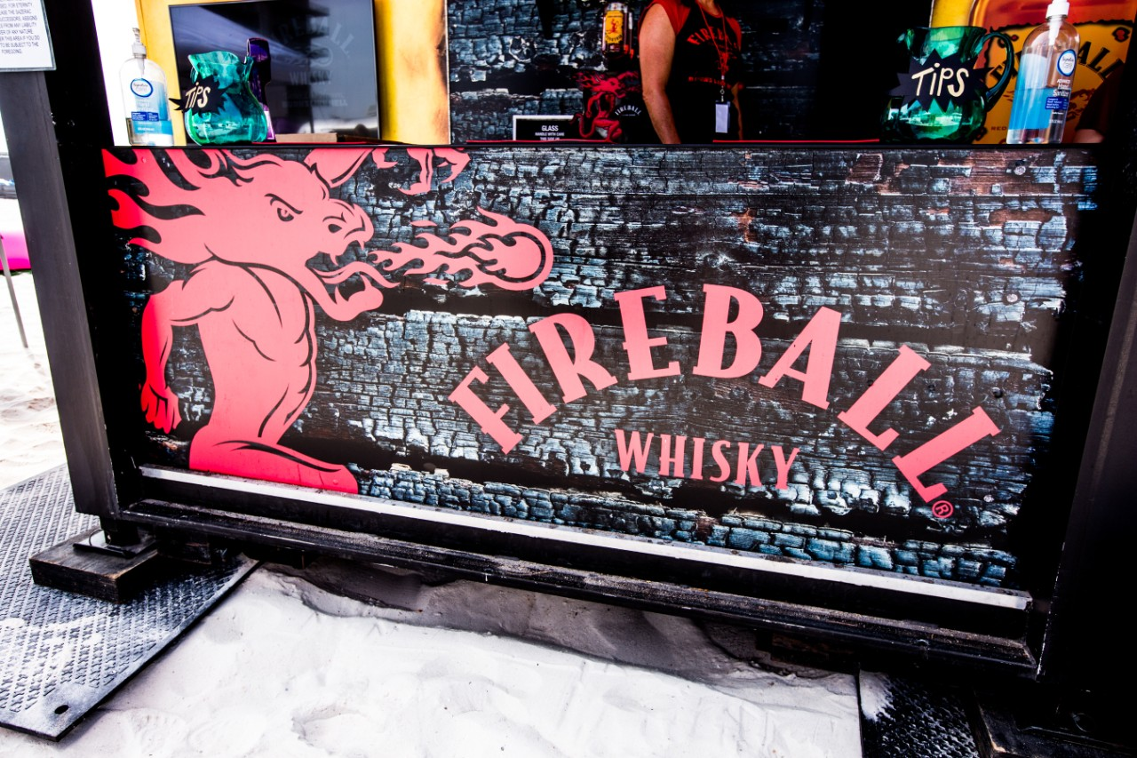 Large Fireball sidewalk sign